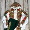 Спортивный костюм бело-зеленый