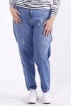 j065   Голубые модные джинсы