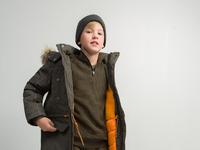 Куртка детская для мальчиков Hanz_D хаки [20110130189#0]
