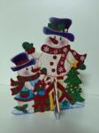 3D фигура Снеговики 30см