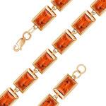 Позолоченный браслет c янтарем 534 - п