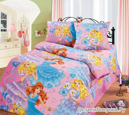 КПБ детский Принцесса (розовый), бязь