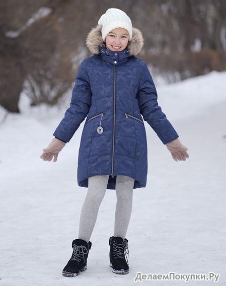 """230-20з Пальто для девочки """"Эмили"""""""