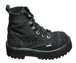 "Ботинки Ranger ""Black"" Замша 6 колец Крючки, размер 34-48"