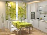 Фотошторы для кухни Свежая зелень