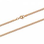 Цепь Лав (Love) с алмазной огранкой золочёная Артикул:ЛГз-40