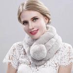 FER/NAT  Меховой шарф, горжетка. Натуральный мех кролика