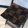 Подушка на стул Вельвет шоколад 1590-10
