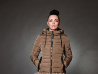Куртка женская зимняя 151 табак