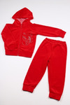 Костюм велюровый Красный с капюшоном р-р 86-140