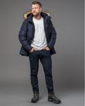 Темно-синяя дизайнерская куртка Year of the Tiger мужская со съемным капюшоном р-р 46-52