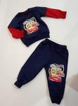 Костюм трикотажный Красно-синий с наклейкой р-р 86-140