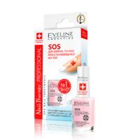 Лак для ногтей Eveline Лечебный SOS д/хрупких и ломких с кальцием 12мл