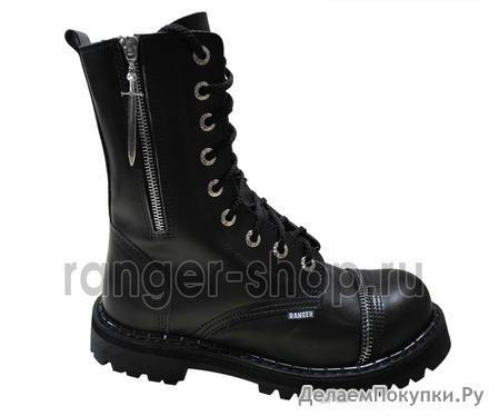 """Ботинки высокие Ranger """"Black"""" Молния + Меч 9 колец"""