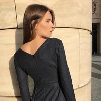 Платье с разрезом PL926/malish