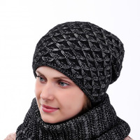 Комплект снуд, шапка 56-58 см подклад флис Шерсть 50% - Акрил 50%
