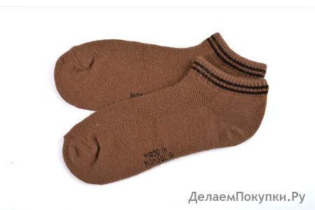 Носки из верблюжьей шерсти темные (взрослые) короткие