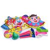 Набор карнавальных аксессуаров на 4 человека, 16 предметов в упаковке: 4 полумаски с носом, 4 колпак