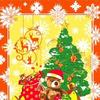 Полотенце новогоднее Мишка / оранжевый