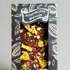 Тёмный бельгийский шоколад с кусочками апельсина, перцем чили и фисташками