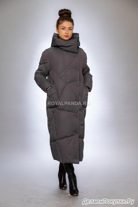 Женская куртка-одеяло зимняя 9072 графит