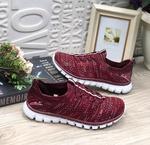 Женские кроссовки 8062-1 винные