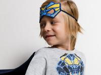 Комплект детский для мальчиков ((1)футболка(фуфайка) и (2) маска) Padge серый [20124200003#0]