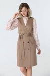 Распродажа Двубортное платье без рукавов с поясом