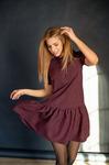 Распродажа Платье с короткими рукавами и воланом по низу
