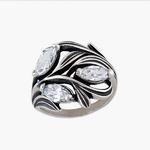 Иветта Кольцо из серебра 925 пробы с фианитами