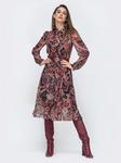 Платье из струящегося шифона, размеры 44-54