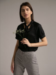 Однотонная блузка B2396/ivory