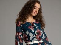 Шифоновое платье А-силуэта PL1115/benefit