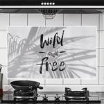Наклейка жироотталкивающая для кухни Wild and Free (Белый)