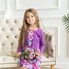 Трикотажное платье для девочки арт.ПЛ-719-сирень_башня