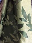 Блэкаут двусторонний листик зеленый 280 см