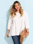 Женская блуза с рукавом 3/4 плюс размер