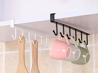 Подвесной держатель с крючками для кухни/шкафа/полки