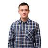 """Мужская рубашка шотландка - длинный рукав """"Э"""""""