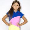 Платье детское лакост - Игра цветов - 3112 - синий