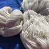 ПУХОВАЯ ПРЯЖА ОТБОРНАЯ ручного прядения белая (нестиранная) цена за 100 гр 230 руб