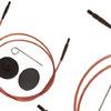 31297 Knit Pro Тросик (заглушки 2шт, кабельный ключик) для съемных спиц, длина 126см (готовая длина спиц 150см), коричневый