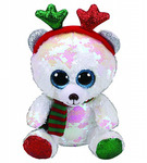 Мягкая игрушка TY медведь Мистлтоу с пайетками 15 см [АРТИКУЛ: 36337]