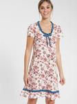 Ночная рубашка с цветочным принтом и оборками