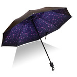 UMBR-1063  Зонт женский.   3 сложения, 8 спиц
