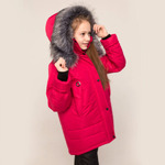 Зимняя куртка для девочки модель ЗМ42 цвет вишня