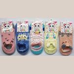Детские укороченные хлопковые носки следочки с ушками арт. 3028