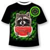 Детская футболка Енот с арбузом 1062 (В)