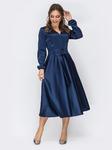 Атласное платье с расклешенной юбкой, размеры 44-54