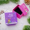 """Коробочка новогодняя под кольцо """"Счастливого Рождества"""", 5*5 (размер полезной части 4,5х4,5см), рис МИКС"""